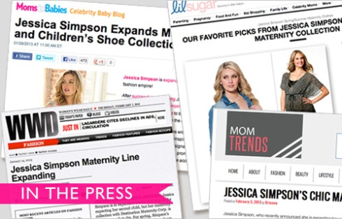 Exciting News! Jessica Simpson Maternity Expands