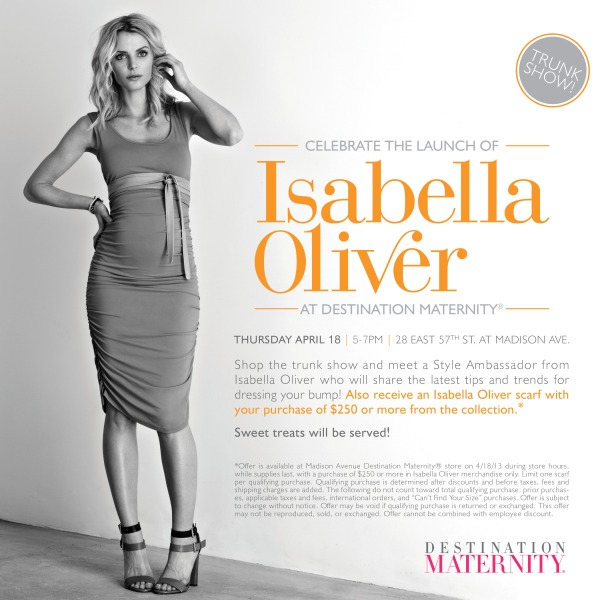 EVENT: Isabella Oliver at Destination Maternity NYC!