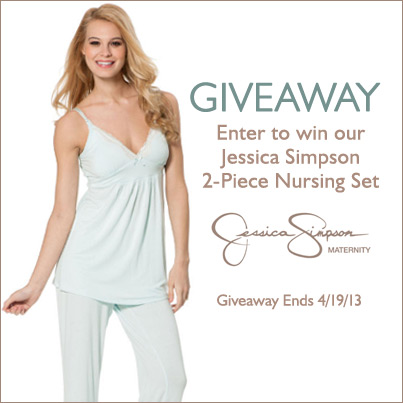 GIVEAWAY! JESSICA SIMPSON SLEEP SET, NURSING