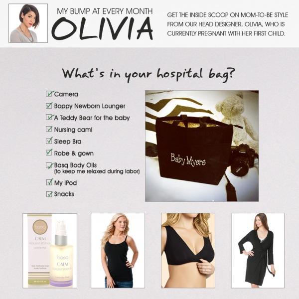 Olivia's Tips: Hospital Bag