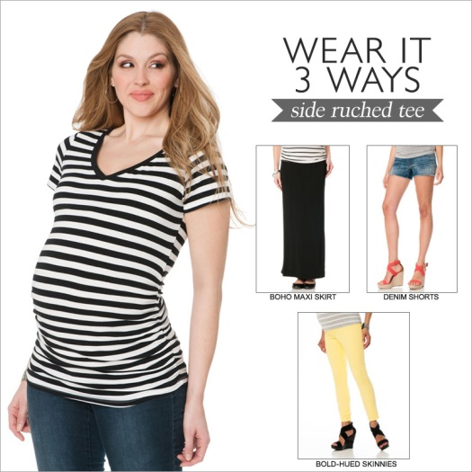 Wear it 3 Ways: Side-Ruched Tee