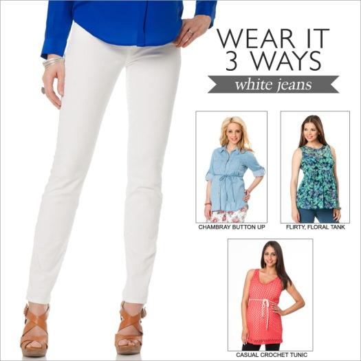 Wear It 3 Ways: White Jeans
