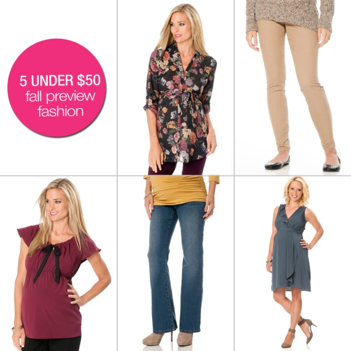 5 Under $50: Fall Preview Fashion
