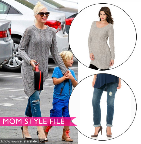 maternity sweater, maternity jeans