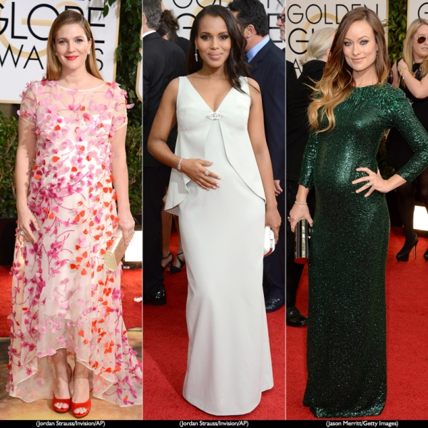 golden globes maternity looks