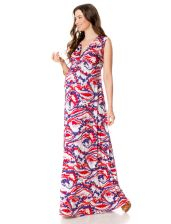 Rachel Pally Sleeveless Empire Waist Maternity Maxi Dress