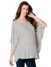 Rachel Pally Short Sleeve Boat Neck Cape Maternity T Shirt