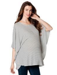 Rachel Pally Short Sleeve Boat Neck Cape Maternity T Shirt