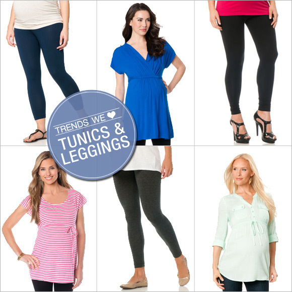maternity tunics and leggings