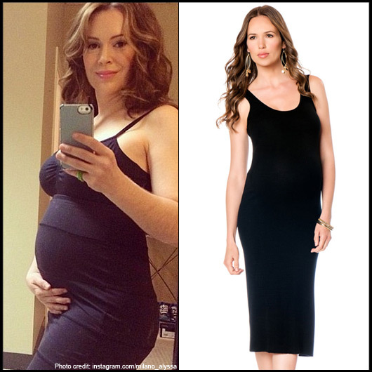 A Pea In The Pod Sleeveless Black Maternity Dress