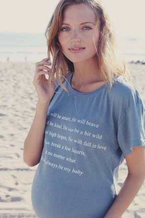 WILDFOX Short Sleeve Scoop Neck Maternity Graphic Tee