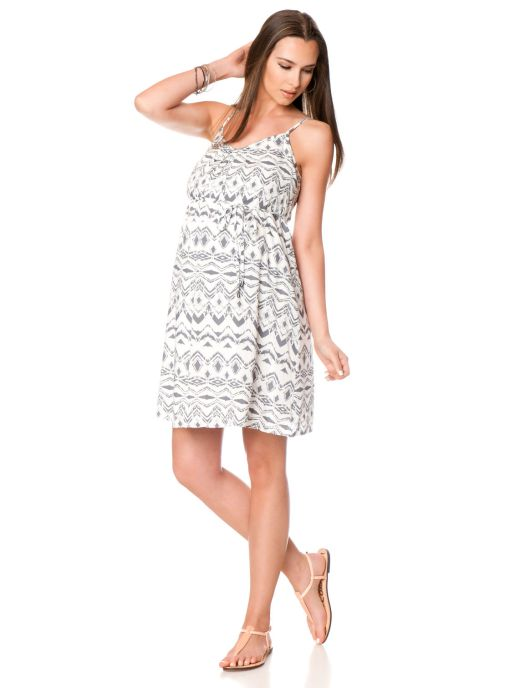 Sleeveless A-line Maternity Dress