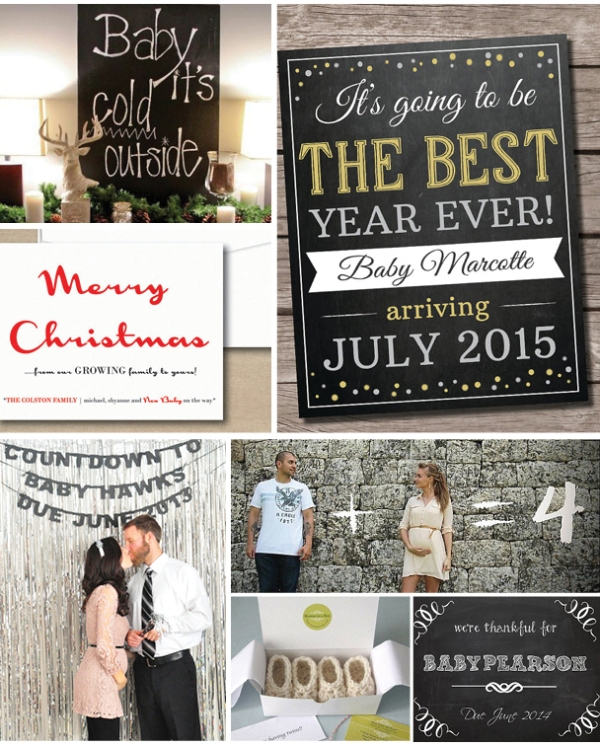 pregnancy announcement – Cute Christmas Baby Announcements