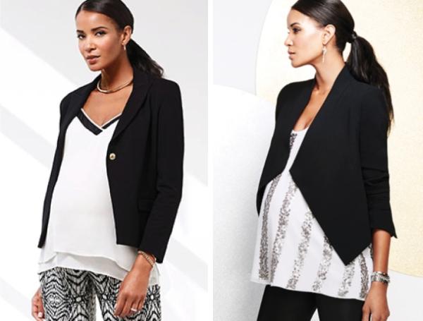 Black & White Maternity Style