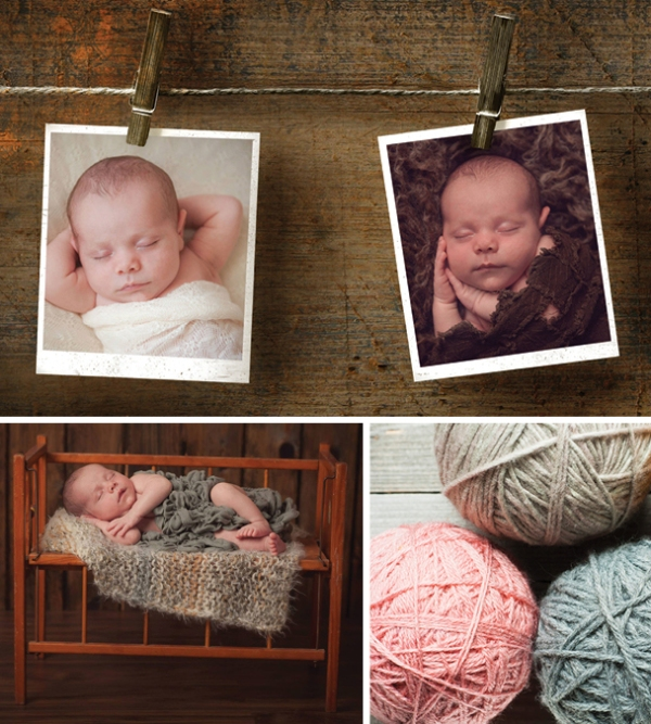 Winter Newborn Baby Photos