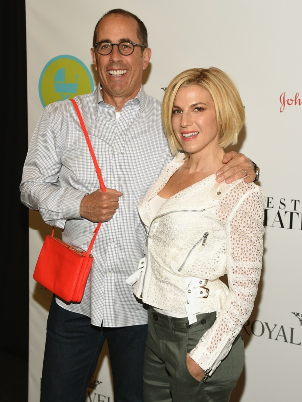 NEW YORK, NY - JUNE 03: Event Host Jerry Seinfeld and Baby Buggy Founder, Event Host Jessica Seinfeld attends the 2015 Baby Buggy Bedtime Bash hosted by Jessica and Jerry Seinfeld and sponsored by Destination Maternity at Victorian Gardens at Wollman Rink Central Park on June 3, 2015 in New York City. (Photo by Bryan Bedder/Getty Images for Baby Buggy)