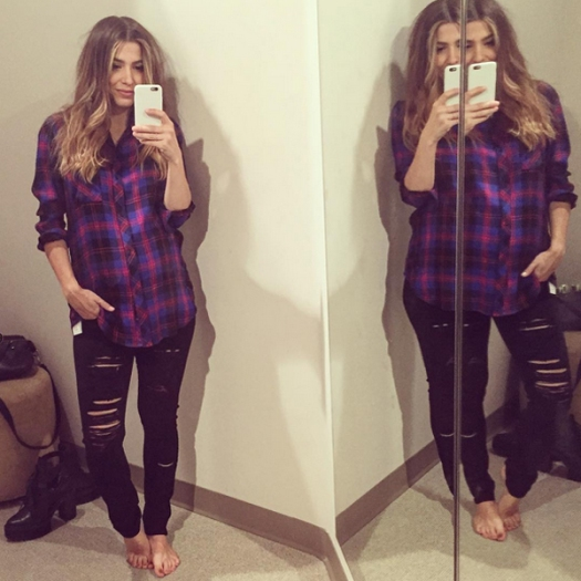 Orly Shani A Gold E jeans Rails flannel