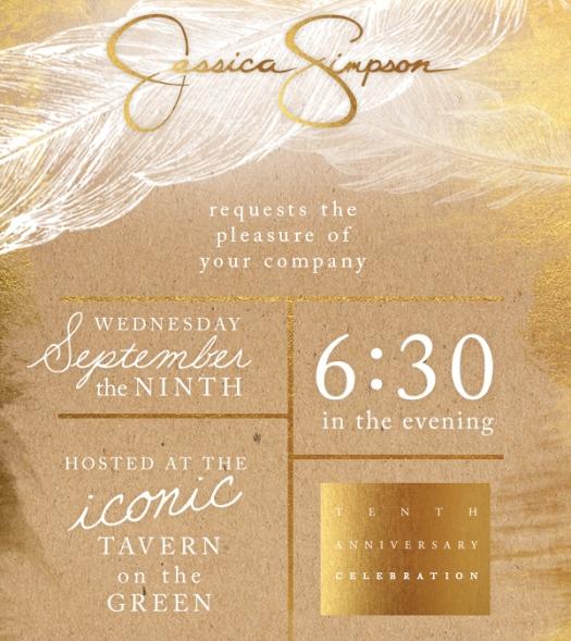 Jessica Simpson Tenth Anniversary
