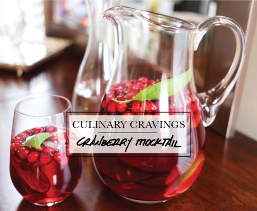 Cranberry Basil Non-Alcoholic Spritzer