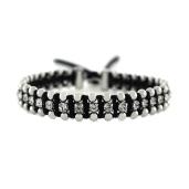 Jessica Simpson Crystal And Fabric Bracelet