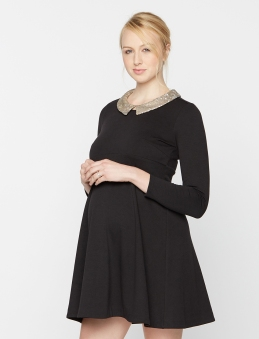 Rachel Zoe Beaded Collar Maternity Mini Dress