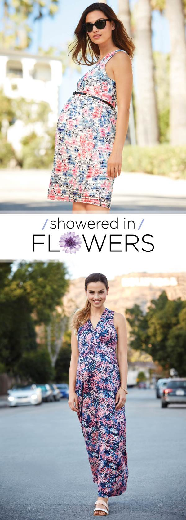showered in flowers