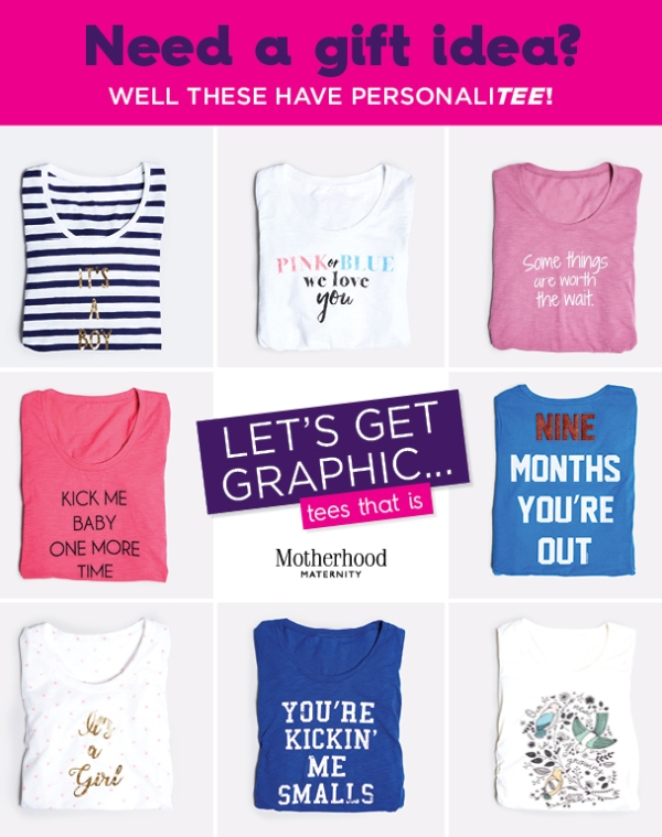 Need a gift idea? Well these have personalitee! Let's get graphic... tees that is