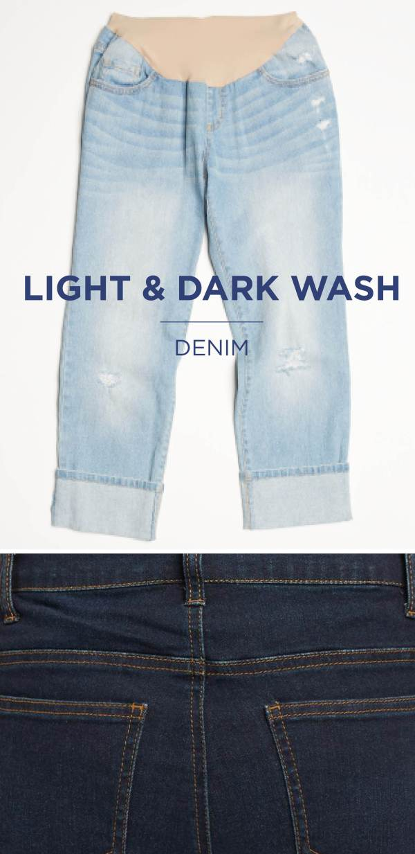 Light & dark wash denim