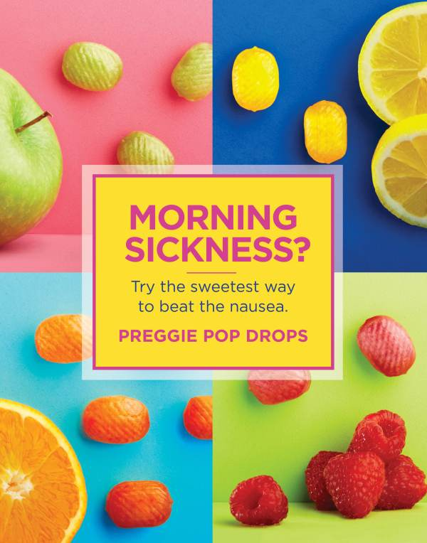 Morning Sickness? Try the sweetest way to beat the nausea. Preggie Pop Drops