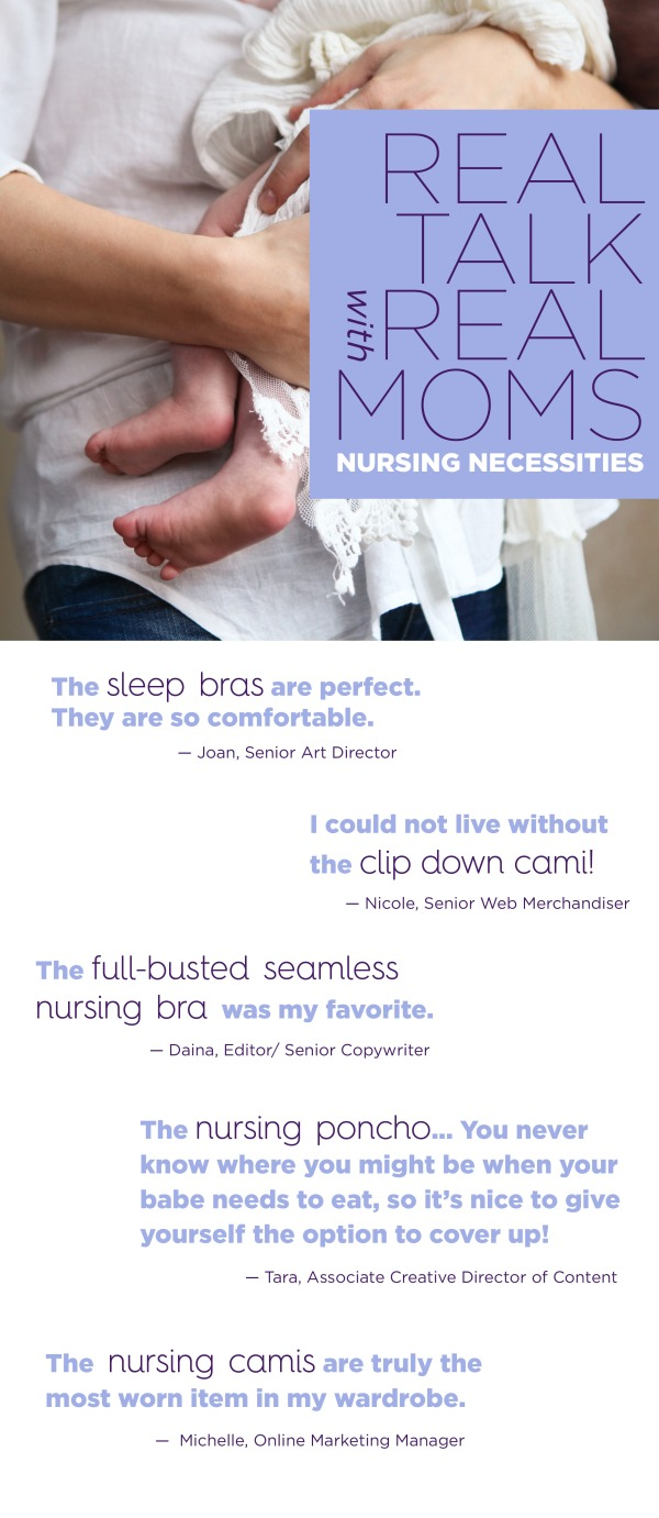 real talk with real moms nursing necessities